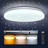 LED Deckenlampe Dimmbar, OPPEARL 40W 3700LM Sternenhimmel LED Deckenleuchte...
