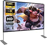 Projektion Leinwand mit Stand 100 Zoll HD 4K Outdoor Indoor Projector Screen...