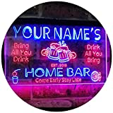 ADVPRO Personalized Your Name Custom Home Bar Beer Established Year Dual Color...