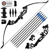 REAWOW 30/40LBS Recurve Bows Bogenschießset,Survival Longbow Right Hand mit...