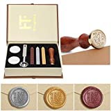 Wax Seal Stamp Kit, PUQU Classical Old-Fashioned Antique Wax Stamp Seal Kit...