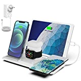 NANAMI Kabelloses Ladestation, QI Wireless Charger, 5 in 1 drahtlose Ladegerät...